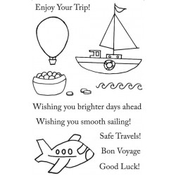 Happy Travels Rubber Stamp Set