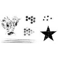 Grunge Elements Rubber Stamp Set