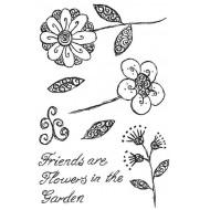 Fancy Florals 1 Rubber Stamp Set