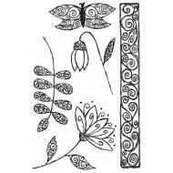 Fancy Florals 2 Rubber Stamp Set