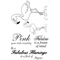 Fabulous Flamingos Rubber Stamp Set