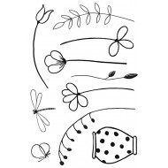 Garden Delights 1 Rubber Stamp Set