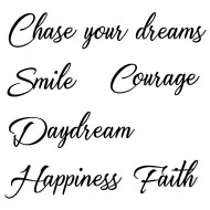 Chase your dreams rubber stamp set