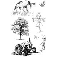 Rural Elements Rubber Stamp Set