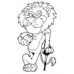 Lion cling rubber Stamp