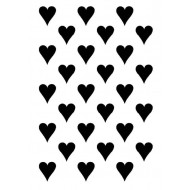 Solid Hearts Background Rubber Stamp