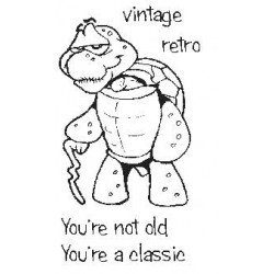 You're Not Old Turtle Rubber Stamp