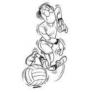 Funny Footballer Rubber Stamp