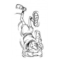 Funny Rugby Rubber Stamp