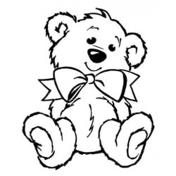 Teddy Relaxing Rubber Stamp