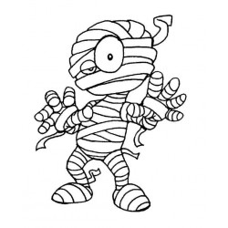 The Mummy Halloween Rubber Stamp