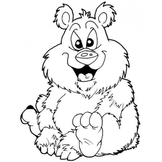 Jolly Bear cling rubber Stamp