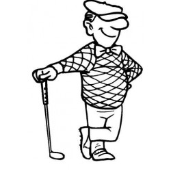 Gary the Golfer Rubber Stamp