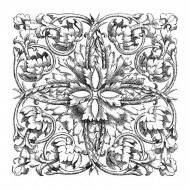 Etched Square Rubber Stamp