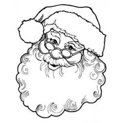 Happy Santa Face Rubber Stamp