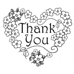 Thank you Heart Rubber Stamp