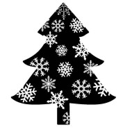 Snowflake Tree Rubber Stamp