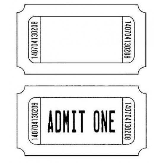 Tickets Rubber Stamp