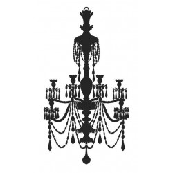 Solid Chandelier Rubber Stamp