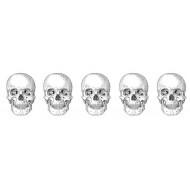 Skull Border Rubber Stamp