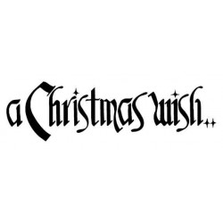 A Christmas Wish Lg Rubber Stamp