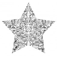 Etched Star Rubber Stamp