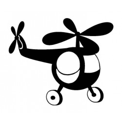 Small Helicopter Rubber Stamp