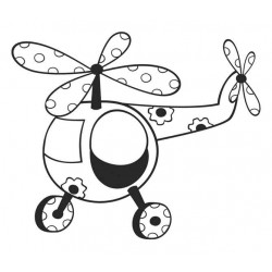 Toy Helicopter Rubber Stamp