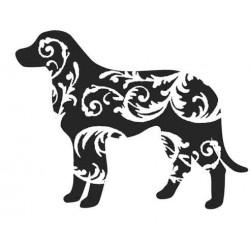 Swirly Dog Rubber Stamp