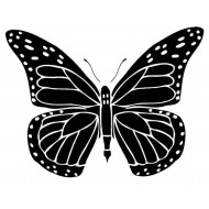 Small Solid Butterfly Rubber Stamp