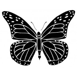 Solid Butterfly Rubber Stamp