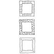 Frame Trio Rubber Stamp Set