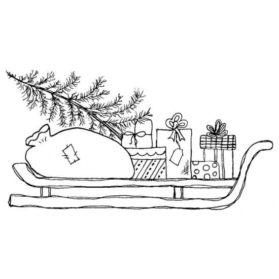 Sleigh Rubber Stamp