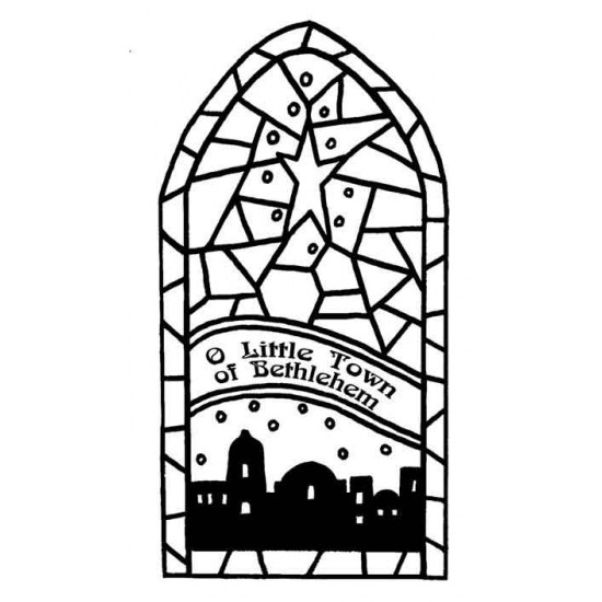 Bethlehem Stained Glass Rubber Stamp