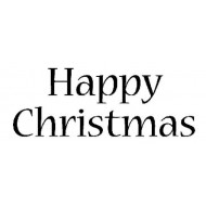 Happy Christmas Traditional Cling Rubber Stamp