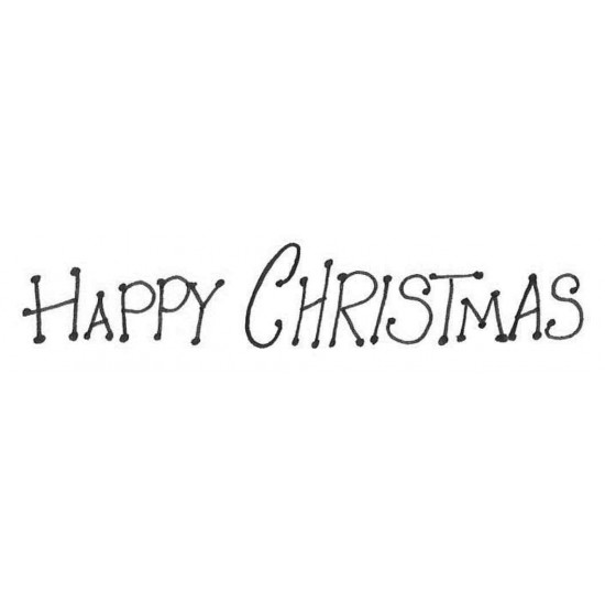 Dot Happy Christmas Rubber Stamp