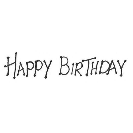 Dot Happy Birthday Rubber Stamp