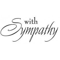 With Sympathy Rubber Stamp