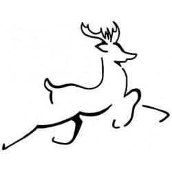 Brushed Reindeer Rubber Stamp