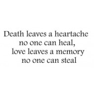 Death leaves a heartache Rubber Stamp