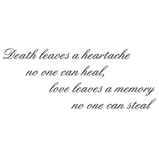 Death leaves a heartache script Rubber Stamp