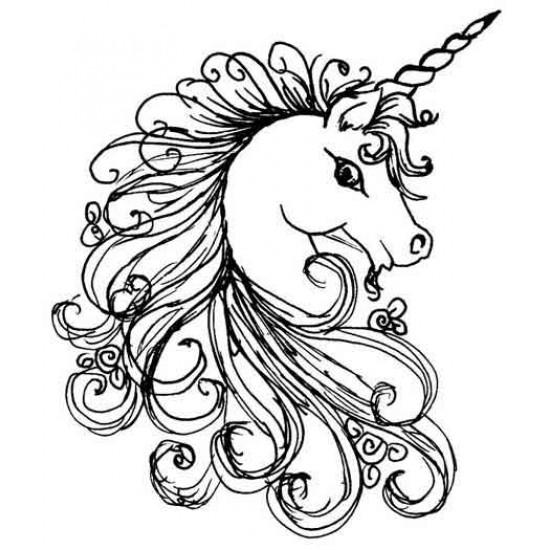 Unicorn Rubber Stamp