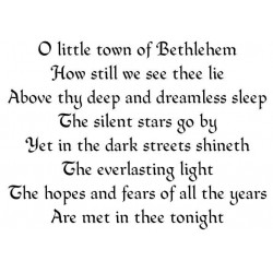 O Little Town of Bethlehem Rubber Stamp