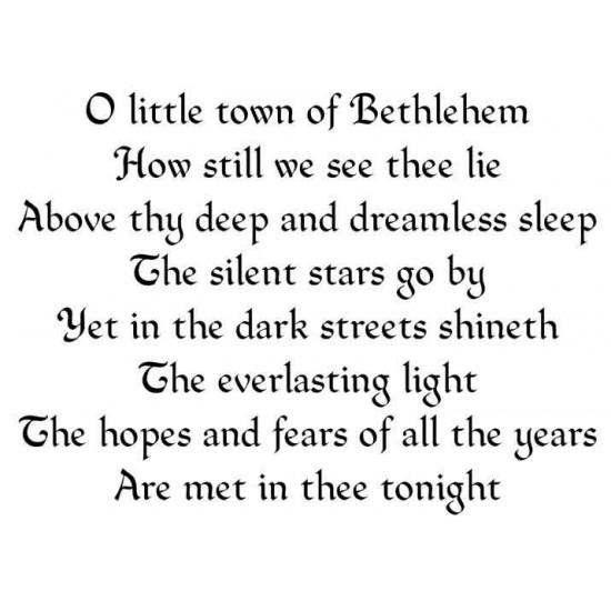 O Little Town of Bethlehem Rubber Stamp
