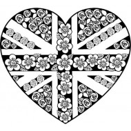 Union Jack Heart Rubber Stamp