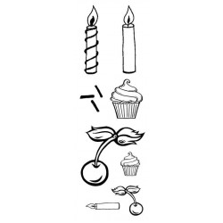 Mini Cupcake & Toppies Rubber Stamp Set
