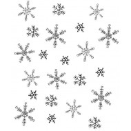 Snowflake Background Rubber Stamp