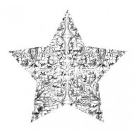 Mini Etched Star Rubber Stamp