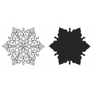 Fanciful Snowflakes Rubber Stamp Set