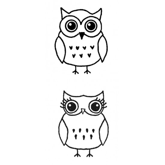 Small Owls Rubber Stamp Set